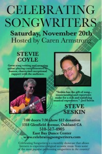 November 2010  Stevie Coyle Steve Seskin