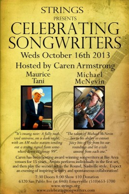 Celebrating Songwriters Weds Oct 16th!